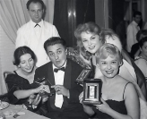 Nastri d'Argento 1958 - Federico Fellini e Giulietta Masina