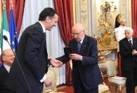 Giorgio Napolitano e Giuseppe Recchi