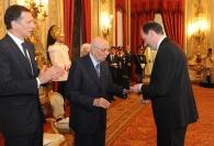 Giuseppe Recchi e Giorgio Napolitano