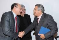 Pier Luigi Bersani, Ermete Realacci e Carlo De Benedetti