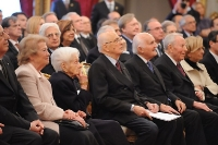 Rita Levi Montalcini con Giorgio Napolitano al Quirinale