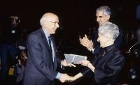 Rita Levi Montalcini con Renato Dulbecco