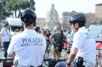 La Polizia di Roma Capitale in bici
