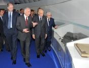 Corrado Passera, Massimo Sarmi,  Giorgio Napolitano, Giovanni Ialongo