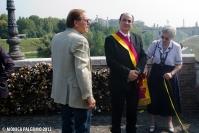 Rimozione lucchetti a Ponte Milvio - Gianni Giacomini Pres. del XX municipio