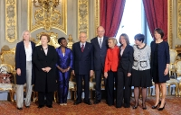 Napolitano, Letta e le Ministre del nuovo governo