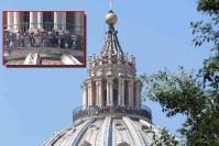 La Cupola di San Pietro con le nuove protezioni