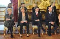 Federica Guidi, Roberta Pinotti, Andrea Orlando, Angelino Alfano