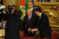 Giorgio Napolitano e Matteo Renzi - Andrea Orlando