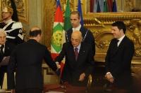 Giorgio Napolitano e Matteo Renzi - Angelino Alfano