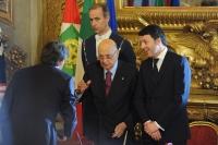 Giorgio Napolitano e Matteo Renzi - Dario Franceschini