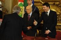 Giorgio Napolitano e Matteo Renzi - Giuliano Poletti