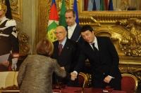 Giorgio Napolitano e Matteo Renzi - Maria Carmela Lanzetta