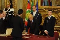 Giorgio Napolitano e Matteo Renzi - Maurizio Martina