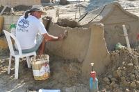 Creazione sculture di sabbia 2