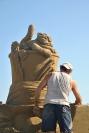 Creazione sculture di sabbia 3