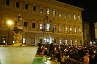 Charlie Hebdo - Fiaccolata a Piazza Farnese