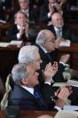 Pietro Grasso, Sergio Mattarella e Giorgio Giovannini