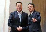 Juan Carlos Varela e Matteo Renzi