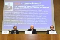 Goffredo Galeazzi, Claudio Descalzi e Claudio Andrea Bollino