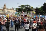 Scuola, in migliaia a Piazza del Popolo