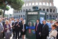 Inaugurazione della Casa dell'Acqua vicino al Colosseo