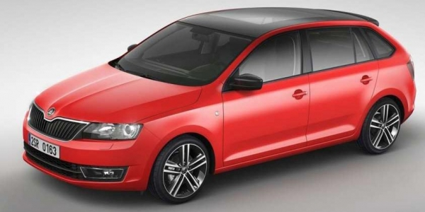 una Skoda Rapid Spaceback