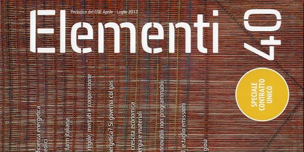 """In distribuzione il numero 40 di """"Elementi"""", house organ del GSE"""